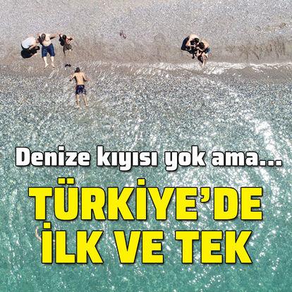 Denize kıyısı yok ama... Türkiye'de ilk ve tek!