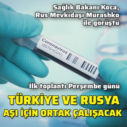 Türkiye ve Rusya aşı için ortak çalışacak