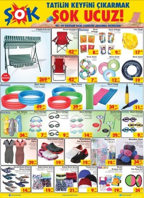 ŞOK 3 Haziran 2020 Aktüel ürünler kataloğu! ŞOK indirimli ürünler listesi