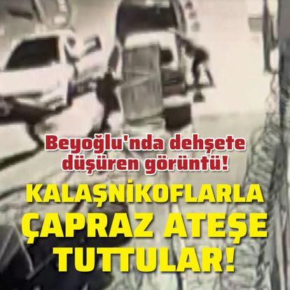 Beyoğlu'nda dehşete düşüren çatışma!
