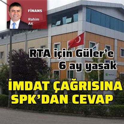 SPK'dan RTA için ceza
