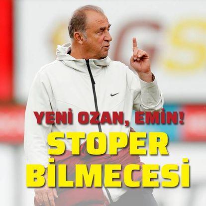 Galatasaray'da stoper bilmecesi!