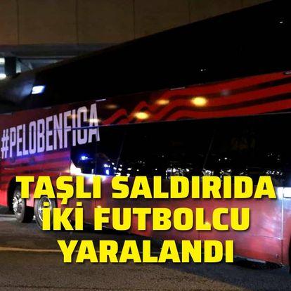 Taşlı saldırıda iki futbolcu yaralandı