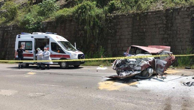Son dakika haberler! Karı kocayı ayıran feci kaza! Otomobil 20 metreden alt yola uçtu