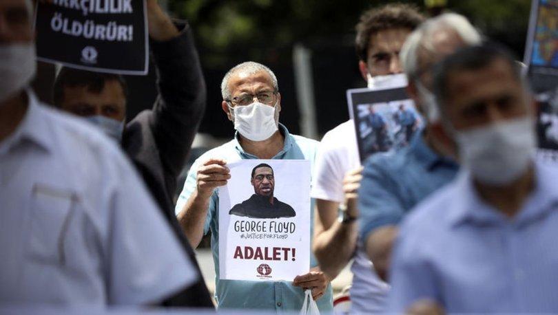 Son dakika ANKARA'DA FLOYD GÖSTERİSİ! ABD polisi tarafından öldürülen Floyd için eylemi! - Haberler