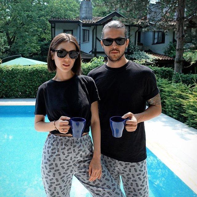 Fulya Zenginer ile Kuntay Tarık Evren'in havuz keyfi - Magazin haberleri