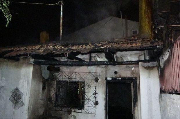 Uşak'ta tek katlı evde korkutan yangın