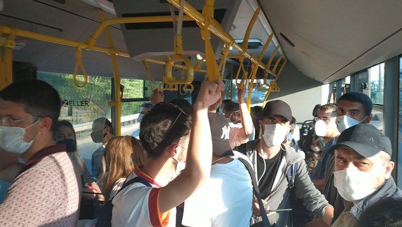 Toplu taşımada yine sosyal mesafe hiçe sayıldı-haberler