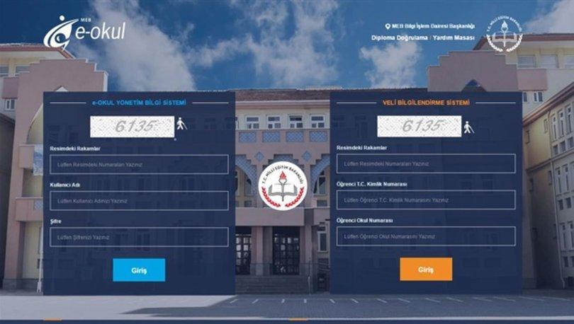 e okul VBS giriş ekranı | e okul 2020 Karne notu nasıl öğrenilir? Karne notu sorgulama ve hesaplama