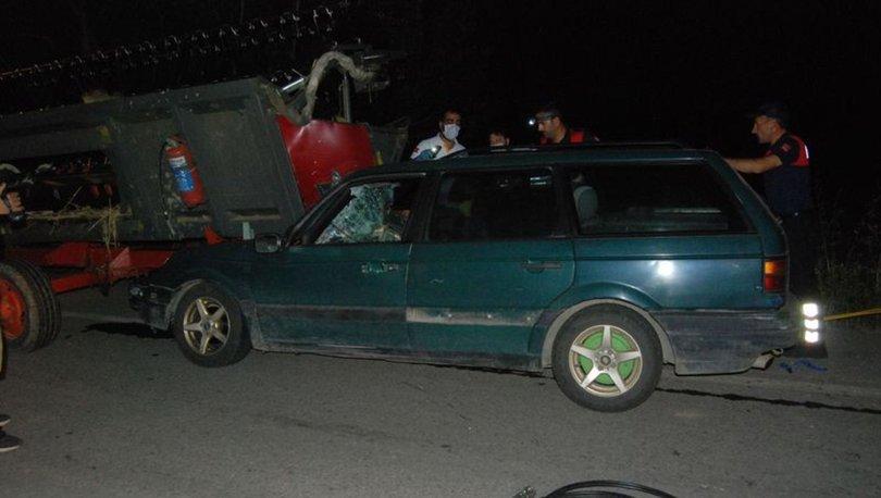 Çanakkale'de otomobil biçerdövere çarptı: 1 ölü, 1 yaralı