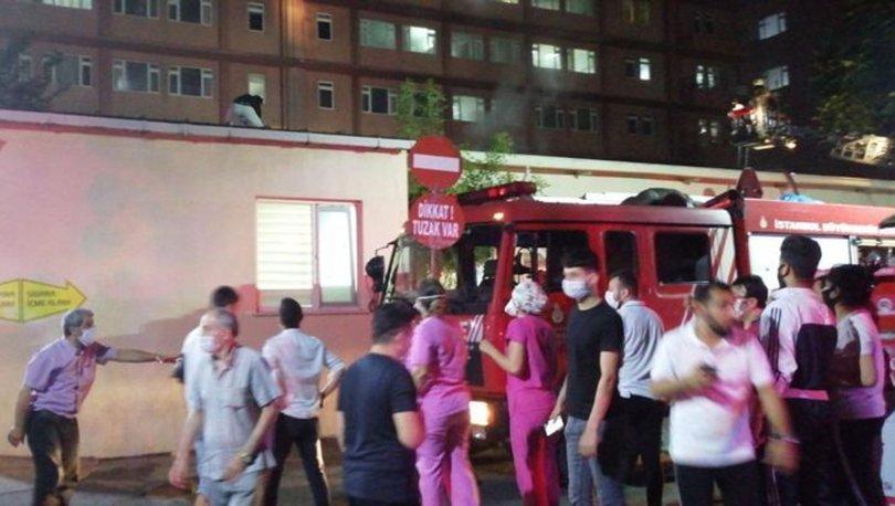 İstanbul Eğitim ve Araştırma Hastanesi'nde yangın çıktı