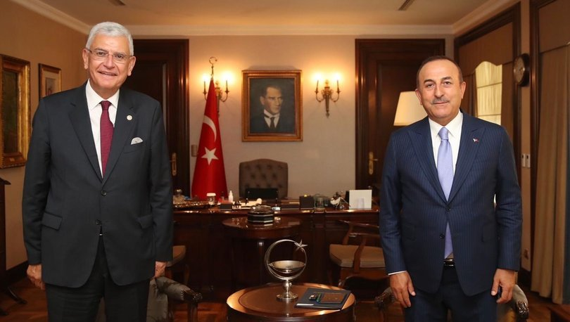Dışişleri Bakanı Çavuşoğlu, BM Genel Kurul Başkanı Volkan Bozkır ile görüştü