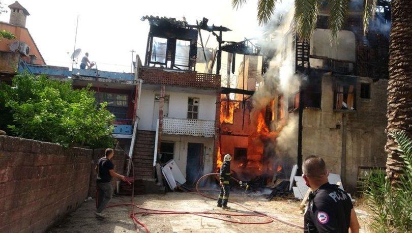 Son dakika haberleri! Metruk binayı ateşe verdi!