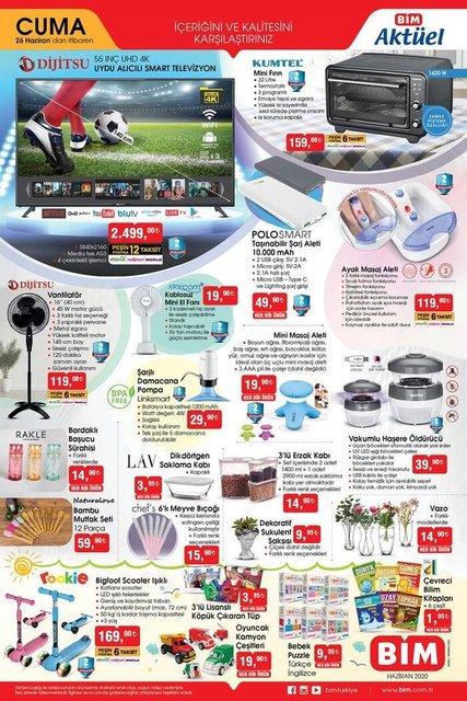 26 Haziran BİM Aktüel ürünler kataloğu! BİM'de bu hafta neler var? BİM indirimli ürünler listesi