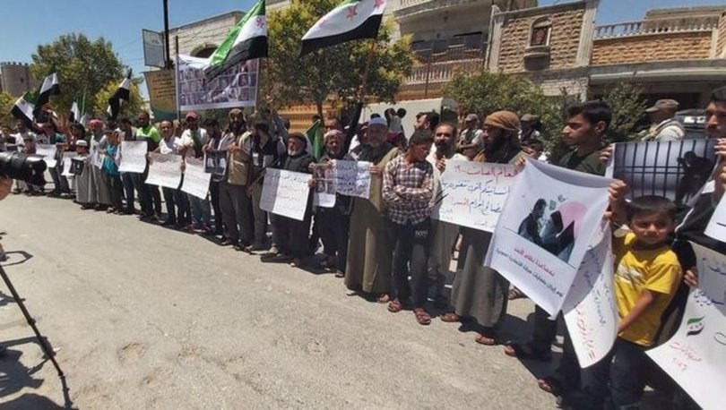 El Bab'da Esad karşıtı protesto