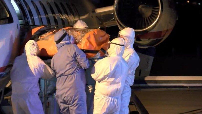 Korona hastası 2 Türk vatandaşı özel uçakla Rusya'dan Bursa'ya getirildi