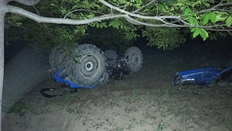 Çorum'da traktör şarampole devrildi 2'si ağır, 5 yaralı