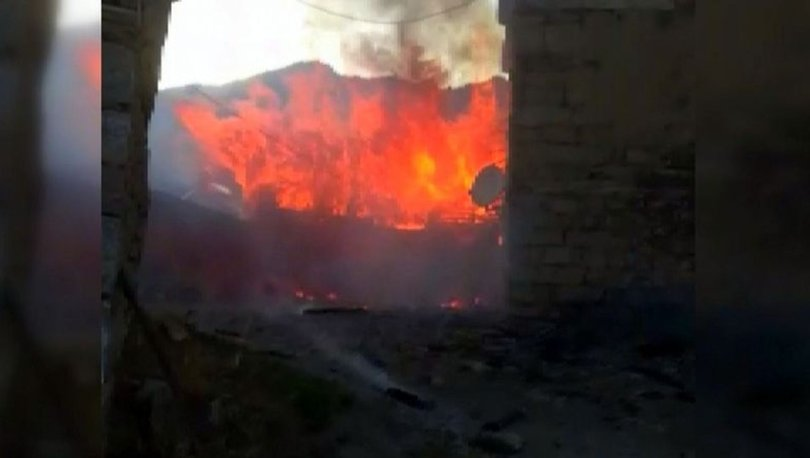 Erzincan'da korkutan yangın