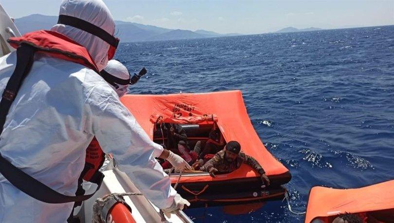 Türk karasularına geri itilen 24 sığınmacı kurtarıldı