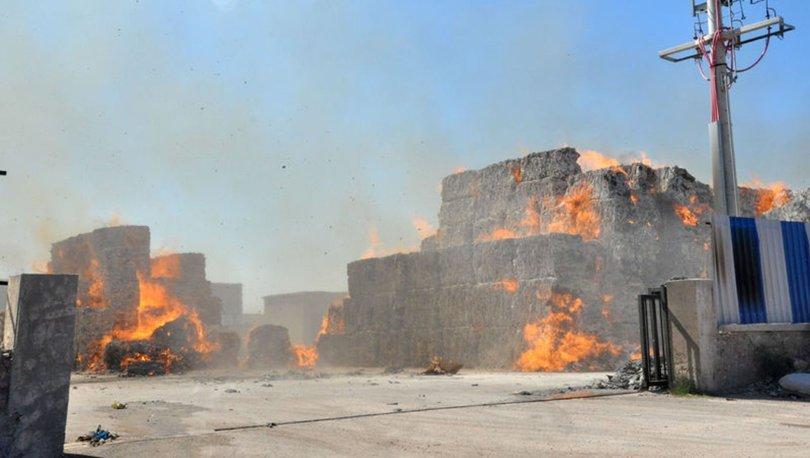 Bursa'da karton fabrikasında yangın
