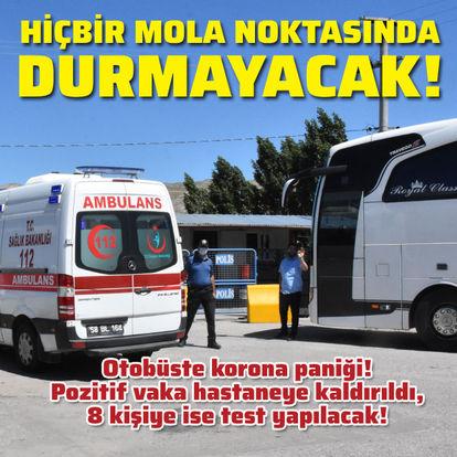 Yolcu otobüsünde korona paniği!