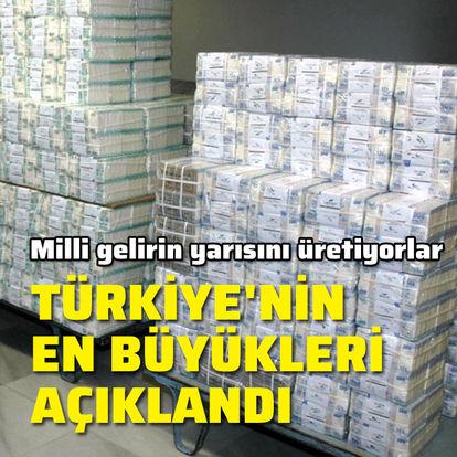 Türkiye'nin en büyük 500'ü açıklandı