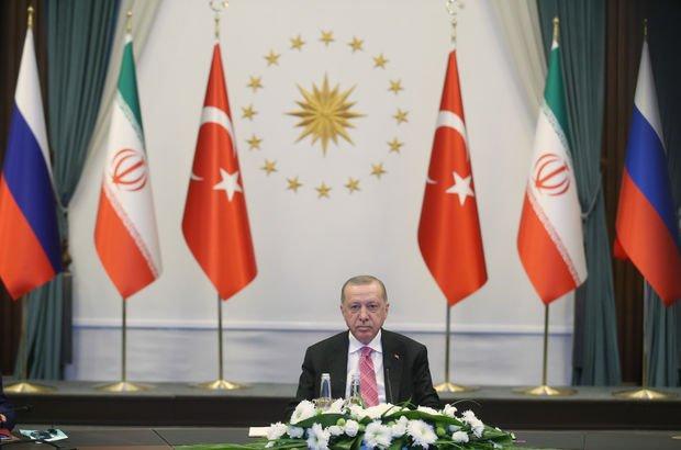 Erdoğan, Putin ve Ruhani'nin katıldığı Suriye zirvesi sona erdi!