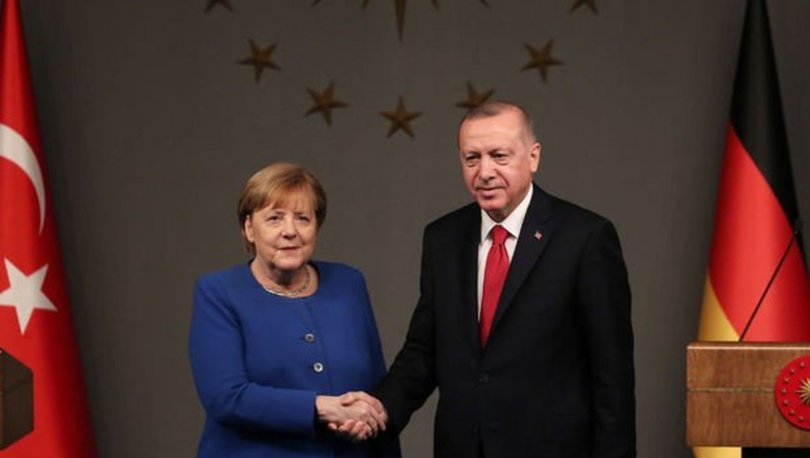 Son dakika... Cumhurbaşkanı Erdoğan, Merkel ile görüştü!