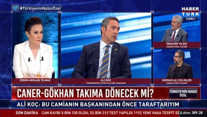 Fenerbahçe Başkanı Ali Koç, Habertürk TV'de soruları yanıtladı