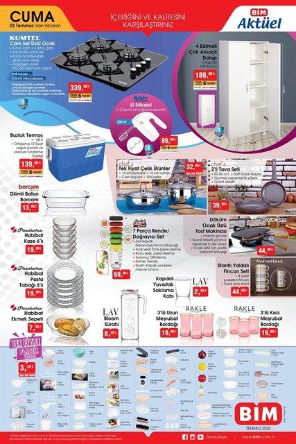 BİM aktüel ürünler kataloğu! İndirimli 3 Temmuz 2020 Cuma BİM katalog ürünleri neler?