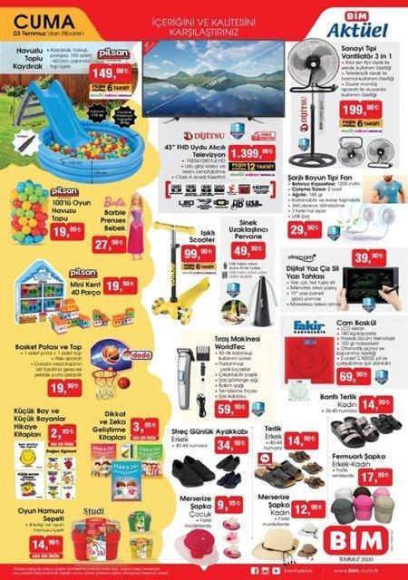 BİM 3 Temmuz 2020 Aktüel ürünler kataloğu! BİM'de bu hafta neler var? BİM indirimli ürünler listesi