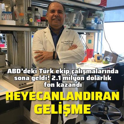ABD'deki Türk ekip kansere çare olacak ilaç çalışmasında sona geldi