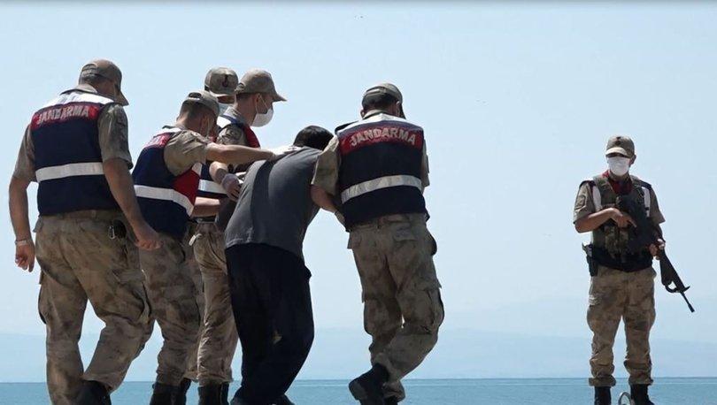 Yüzerek kurtulan Medeni Akbaş, keşif için Van Gölü'ne getirildi