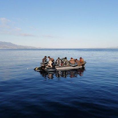 Son dakika haberler... Türk kara sularına geri itilen 11 sığınmacı kurtarıldı