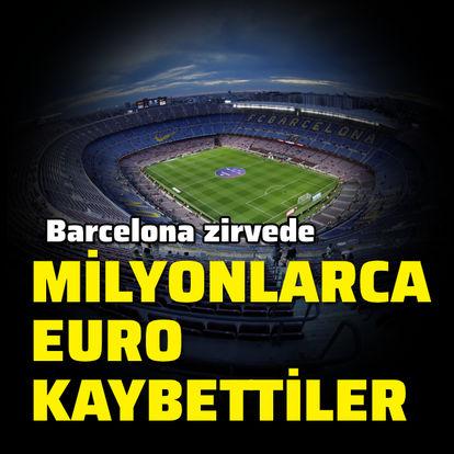 Milyonlarca euro kaybettiler