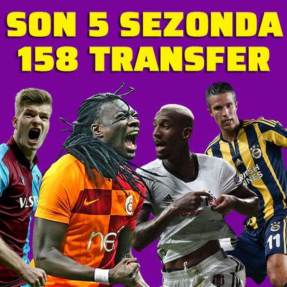 5 sezonda 158 yabancı transfer!