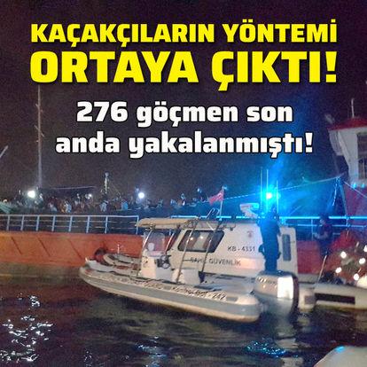 276 göçmen son anda yakalanmıştı! Kaçakçıların yöntemi ortaya çıktı!