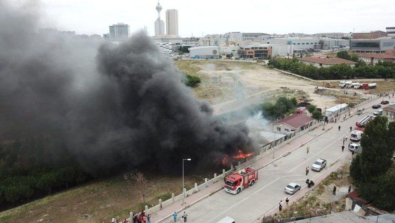 esenyurt işçi konteynerlerinde yangın