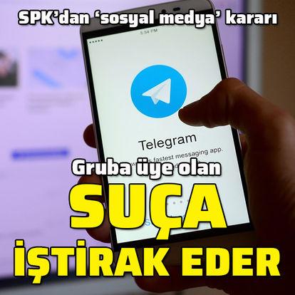 SPK'dan sosyal medya kararı