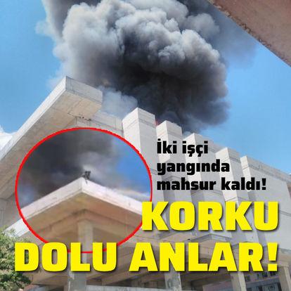 Tunceli'de iki işçi yangında mahsur kaldı!