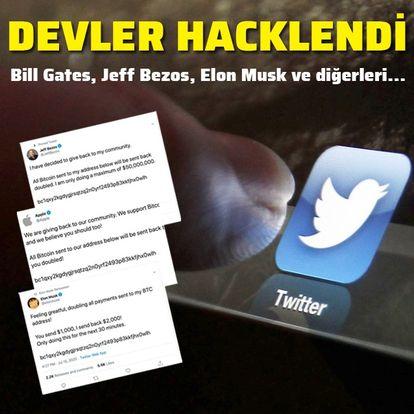 Son dakika! Bill Gates, Elon Musk, Jeff Bezos, Obama, Uber ve Apple'ın Twitter hesapları hacklendi!