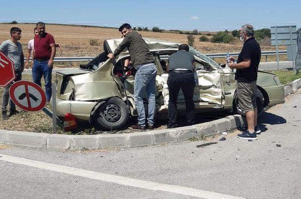Korkunç kazada anne ve kızı can verdi!