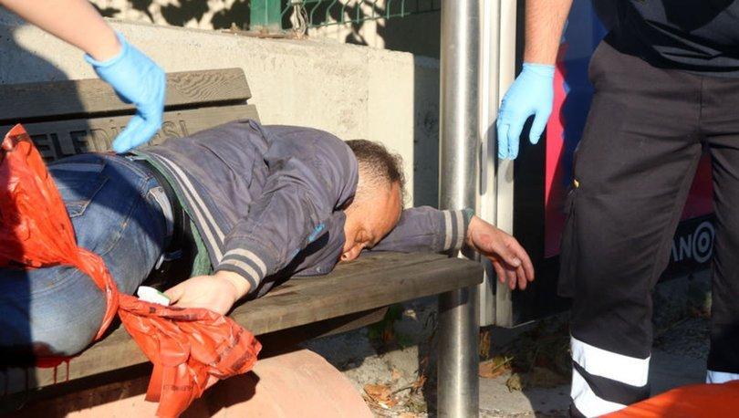 Yaralı halde 1 kilometre yürüdü, otobüs durağında yığıldı- Haberler