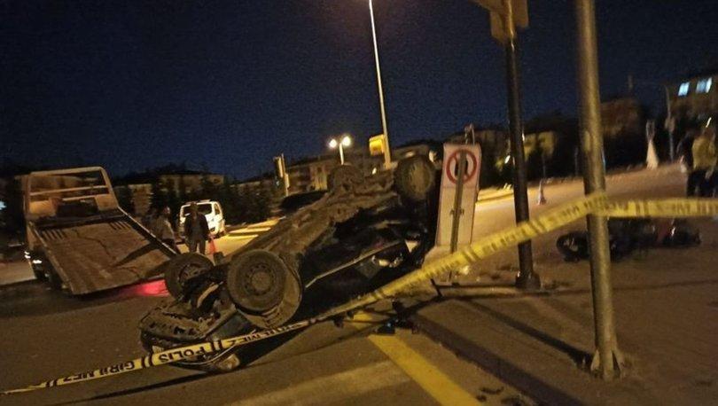 Ankara'da motosiklet ile otomobil çarpıştı: 1 ölü, 2 yaralı
