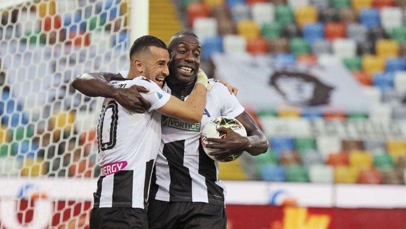 Udinese son dakikada attı, Juventus şampiyonluğu erteledi