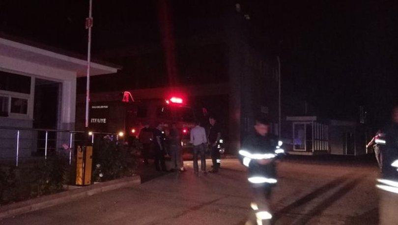 Bolu'da ilaç fabrikasının buhar kazanı patladı