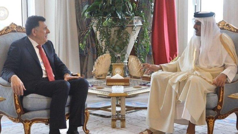 Libya Başbakanı Serrac ile Katar Dışişleri Bakanı Al Sani İstanbul'da görüştü