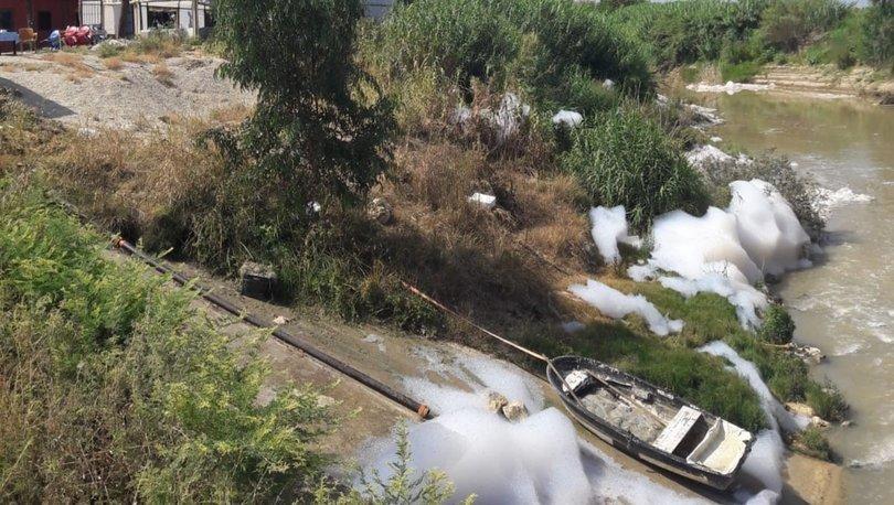 Son dakika haberi! Tarsus'ta Kusun Deresi köpürdü!