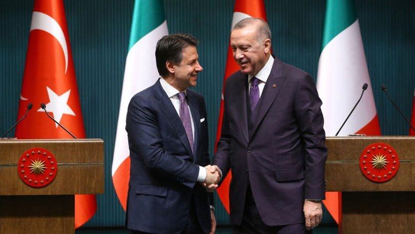 Cumhurbaşkanı Erdoğan, İtalya Başbakanı Conte ile görüştü!