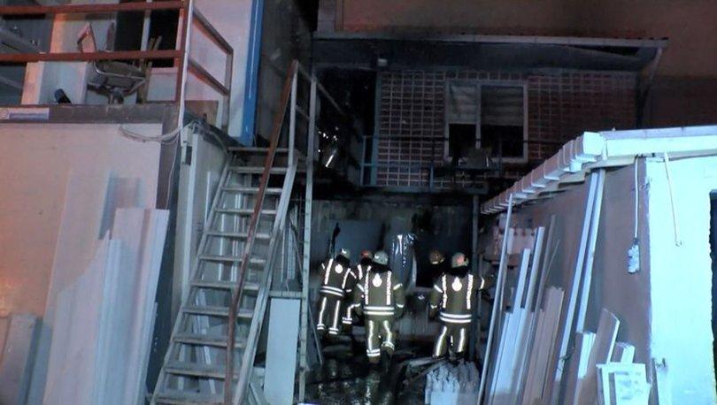 Ataşehir'de işçilerin kaldığı konteynerde yangın